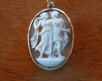 Unusual Shell Full-Figured Cameo 14K gold 1900