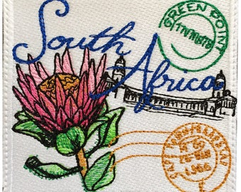 South Africa Stamp Embroidered Patch