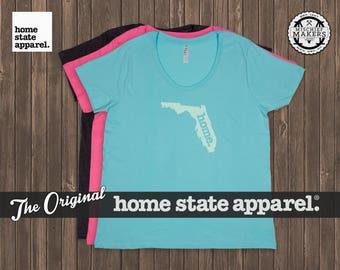 Florida Home. T-shirt- Women's Curvy Fit
