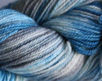 100g Hand dyed 4ply sock yarn - Grey Teal