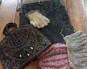 VINTAGE PURSE FRAMES Parts From Old Beaded Handbags To Rescue