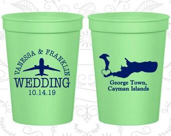 Cayman Islands Wedding Cups, Cayman Islands Wedding, Printed Beer Cups, Destination Wedding, Wedding Cups, George town Cups (196)