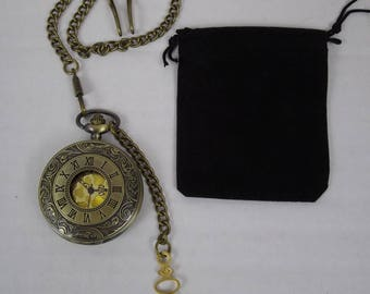 Bronze pocket watch, fob watch, time piece, steampunk watch, groomsman