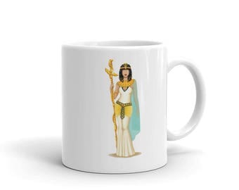 Cleopatra Girlboss Mug, Future is Female, Queen Gift for Her, Who Run the World, Girlboss Pop Art, Women, Feminism Art