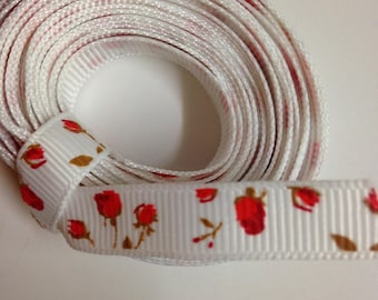 "5 yards 3/8"" grosgrain ribbon"