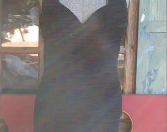 Vintage black dress halter