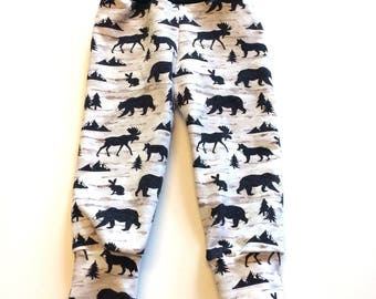 Forest animals Joggers, Baby sweatpants, baby sweats, kid sweat pants,baby jogging outfit