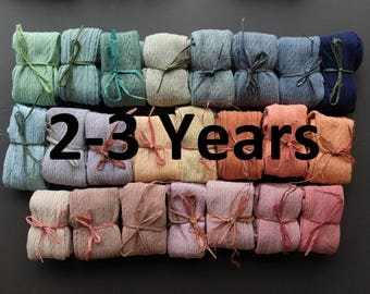 2-3 YEARS Hand Dyed baby tights years in a range of beautuiful colours!