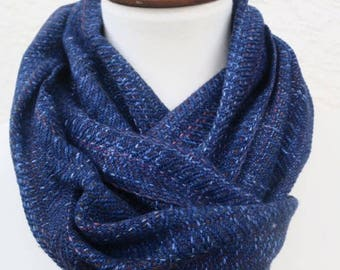 Handyed Handwoven Blue Scarf