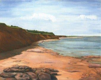 Beach Rock at Darnley - Print
