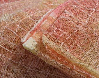 Fabric for clothing, lace, pale orange color