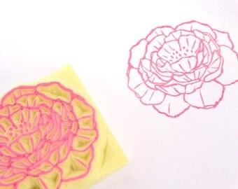 Peony stamp, Flower invitation, Guest name card, Flower stamp, Invitation decor, DIY wedding, Ranunculus, Lotus flower, Chrysanthemum, Doily