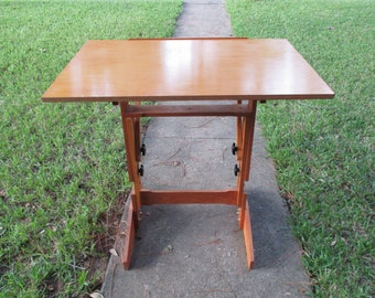 vintage hand crafted versatable made in grants pass oregon drafting table
