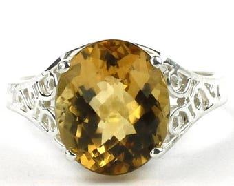 On Sale, 30% Off, Citrine, 925 Sterling Silver Ring, SR057