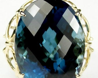 On Sale, 30% Off, London Blue Topaz, 10KY Gold Ring, R068