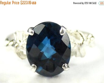 On Sale, 30% Off, London Blue Topaz, 925 Sterling Silver Angel Ring, SR154