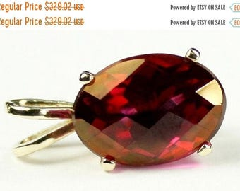 On Sale, 30% Off, Crimson Fire Topaz, 14KY Gold Pendant, P006