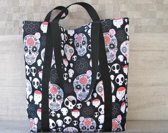 Gothic Bag, Skull Bag edgy accessory avant-garde Style, Waterproof fabric.