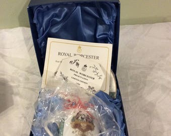 Collectable Royal Worcester Limited Edition Demitasse Cup & Saucer 1986 Boxed