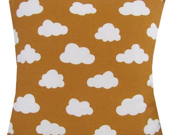 "Designer handmade mustard gold scandinavian cloud 16 - 24"" cushion cover"