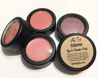 Shea Butter Lip & Cheek Tint -  Natural Makeup Cheeks Lips or Eye Shadow - Gluten Free Titanium Free Cream Makeup