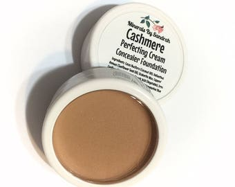 CASHMERE Perfecting Cream Mineral Foundation - Natural Creamy Foundation Concealer Makeup - Vegan Gluten Free