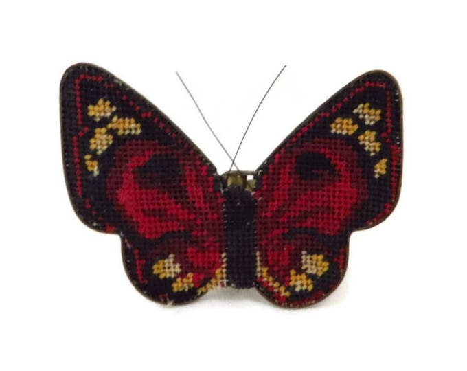 Vintage Butterfly Hair Clip, Austrian Needlepoint Clip, Hair Accessory, FREE SHIPPING