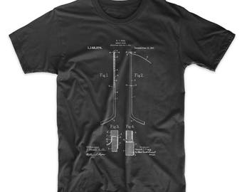 Hockey Stick Patent T Shirt, Hockey Coach Gifts, Hockey Shirt, Hockey Dad, PP0157