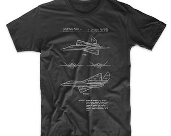 F-23 Fighter Stealth Plane Patent T Shirt, Black Widow 2, Aviation Shirt, Boys T Shirt, Airplane T Shirt, PP0972
