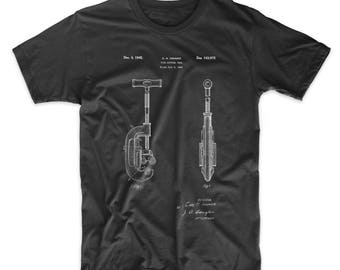 Pipe Cutting Tool Patent T Shirt, Tool Shirt, Unique Dad Gift, Plumber Gift, Man Cave, PP0986
