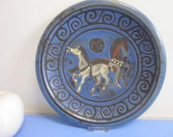 Ceramano Pergamon wall plate 60s 70s WGP Welling
