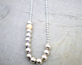 """925 sterling silver chain necklace-""""love"""" - Wood - Wood necklace."""