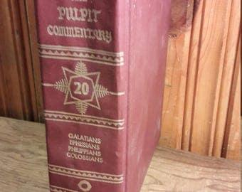 1976 Eerdmans Pulpit Commentary - Galatians, Ephesians, Philippians, Colossians - Vintage Christian Bible Books Pastor Church Sermons Book