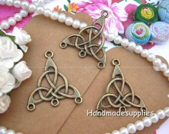 Set of 10 blank (COOGF) bronze hook earrings