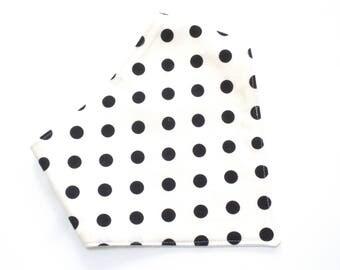 Black White Baby Bib Bandana Bib Bibdana Polka Dots Monochrome Dribble Bib Birthday Party Modern Baby Monochrome Nursery Baby Shower Black
