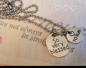 So Very Blessed, Love to Run necklace