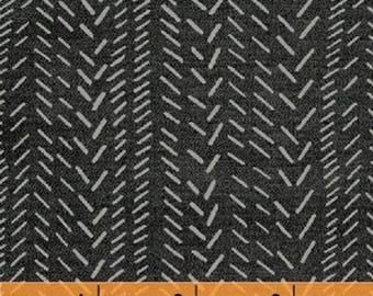 TITAN - Herringbone in Storm - Cotton Quilt Fabric - Geometric Blenders - Another Point of View for Windham Fabrics - 50048-1 (W4450)