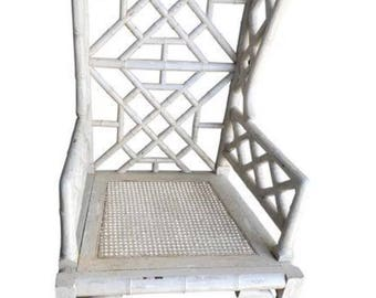 Beautiful Faux bamboo chair in cream finish - ONE GUILD MASTER