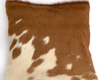 Natural Cowhide Luxurious Hair On Cushion/ Pillow Cover (15''x 15'') A106