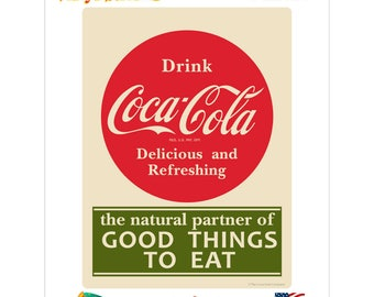 Coca-Cola Good Things To Eat Green Vinyl Sticker - 159630