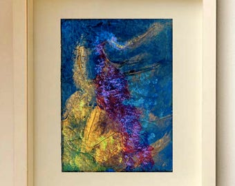 Abstract ACEO Original painting Seabed ACEO Miniature Art Limited Edition