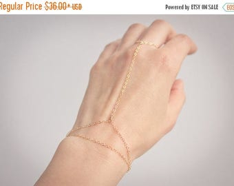 Close Out Sale Silver / Gold or Rose gold Hand Chain Slave Bracelet