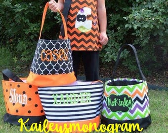 Halloween Trick or Treat Bag - Personalized -   Canvas Halloween Totes