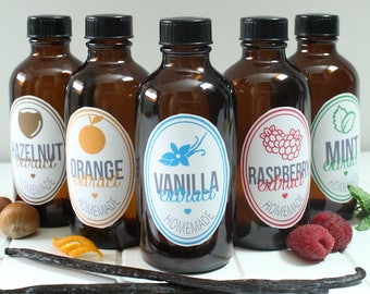 Printable Flavor Extract Labels