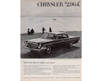 Vintage poster advertisement of a 1962 Chrysler - 18