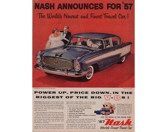 Vintage poster advertisement of a 1957 Nash --- 66