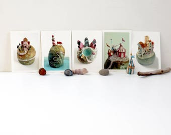 Set of Dream Island Postcards   Set of five postcards