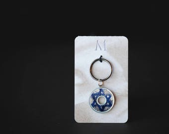 Star of David Keychain | Resin Coated