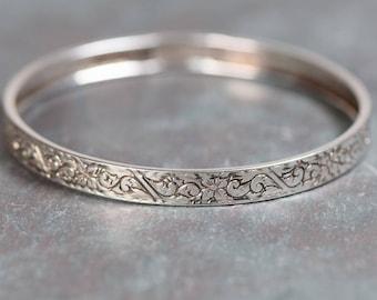 Vintage Beau Sterling Silver Bangle Bracelet