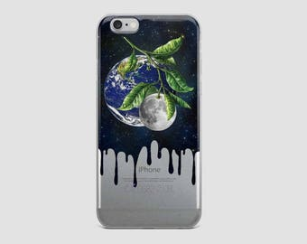 Clear 8 Plus case, iPhone 7 case clear, iPhone 6S case, iPhone X case, iPhone 6, iPhone 7 Plus case, Transparent IPhone X, Earth and Moon